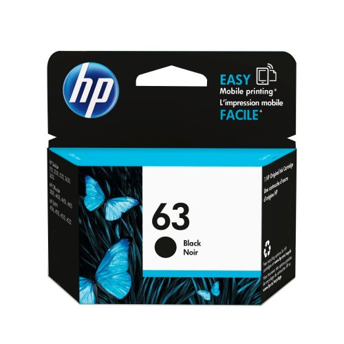 HP NO.63 黑色原廠墨水匣  F6U62AA