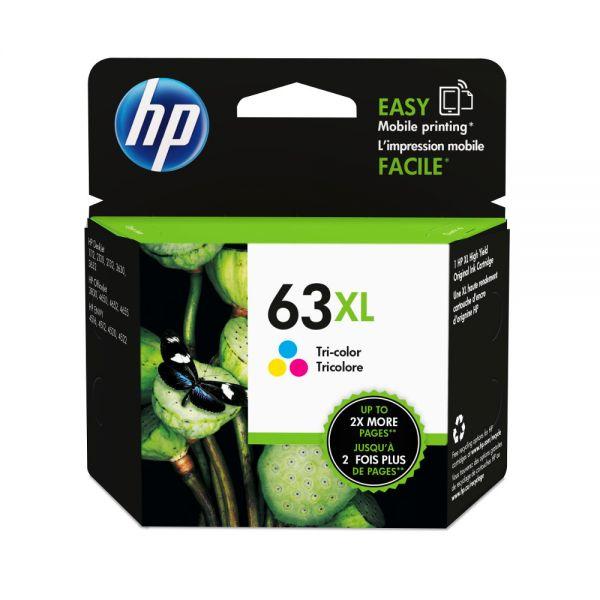 HP NO.63XL 彩色原廠墨水匣  F6U63AA