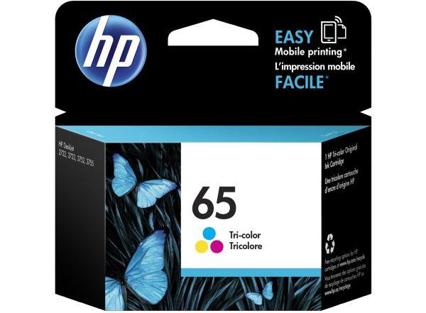 HP 65 原廠彩色墨水匣 NO.65 N9K01AA
