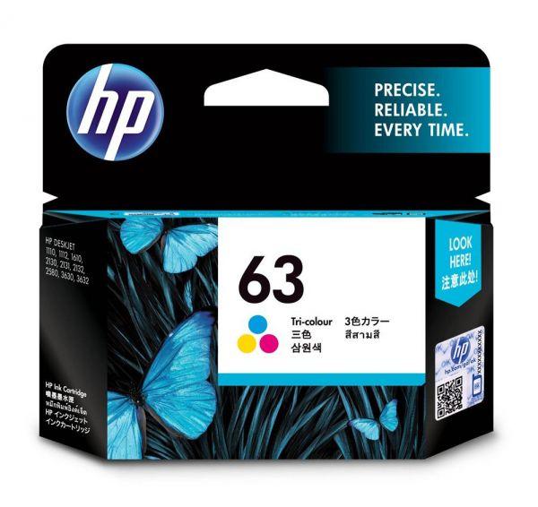 HP NO.63 彩色原廠墨水匣  F6U61AA