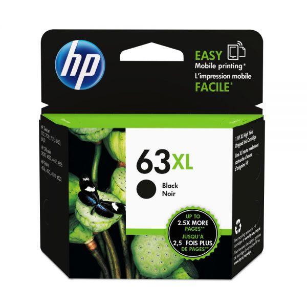 HP NO.63XL 黑色原廠墨水匣  F6U64AA